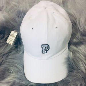 Victoria's Secret Pink White Logo Baseball Cap Hat